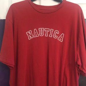 Red Vintage Nautica t-shirt ‼️